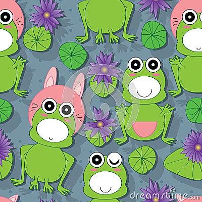 Free Frog Lotus Seamless Pattern Royalty Free Stock Photos - 40670798