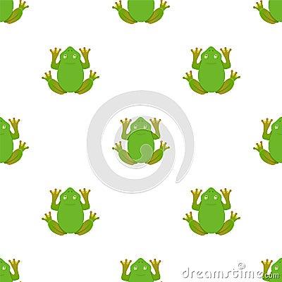 Frog pattern on a white background. illustration Cartoon Illustration
