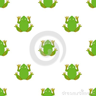 Frog pattern on a white background. Vector Illustration