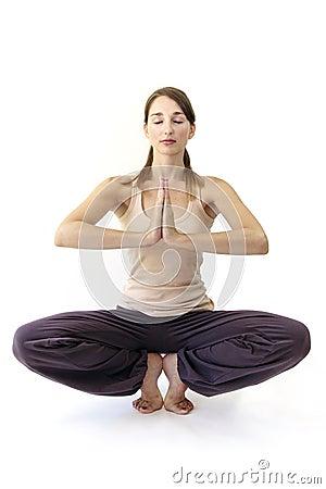 Frog posture in yoga