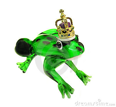 Frog prince with golden crown