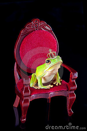 Frog prince on throne