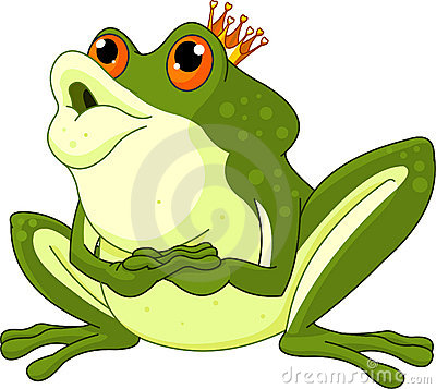 Frog Prince waiting to be kissed