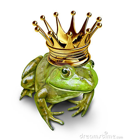 Free Frog Prince With Gold Crown Stock Images - 20124164