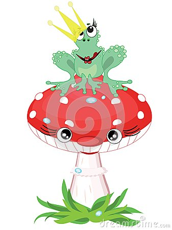 Frog princess on the mushroom