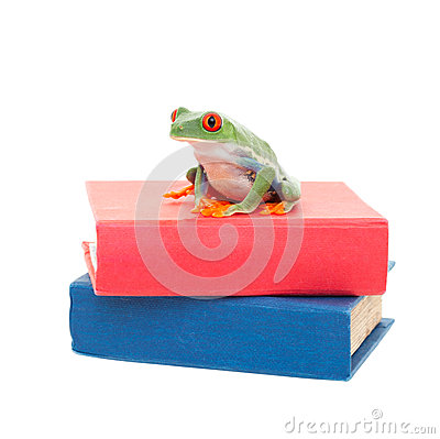 Frog on Science Books