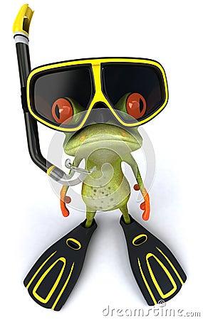 Free Frog Scuba Diver Royalty Free Stock Photos - 18871968