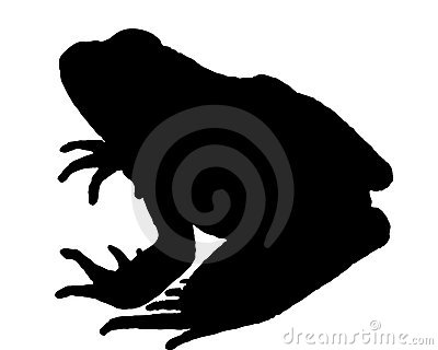 Frog Silhouette Royalty Free Stock Photos - Image: 17797618