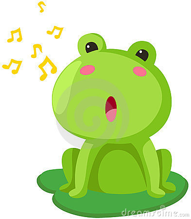 Nightingale sings the night the frog croak