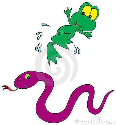 FROG AND SNAKE (VECTOR CLIP-ART)