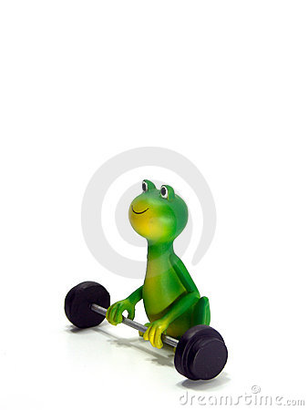 Free Froggy, Green Frog Character, The Powerlifter Royalty Free Stock Photo - 6961155