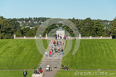 Frogner park in Oslo Editorial Photography