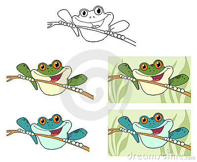 Frogs on sticks
