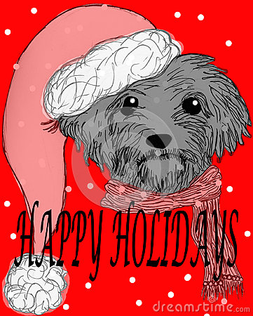 Frohe Feiertage Hund
