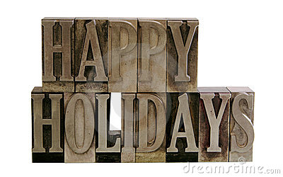 Frohe Feiertage im Metalltypen