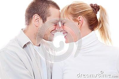 Frohe Paare in der Liebe