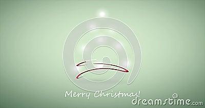 Frohe Weihnacht-Feiertags-Video-Animation stock footage