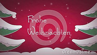 Frohe Weihnachten banque de vidéos