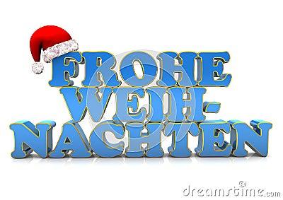 Frohe Weihnachten auf Deutsch