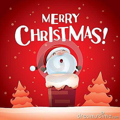 Sankt im kamin   frohe weihnachten lizenzfreies stockfoto   bild ...