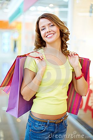 Froher Verbraucher