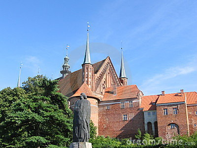Frombork with statue of Copernicus