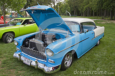 Front of 1955 Chevrolet Bel Air Editorial Image