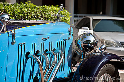 Front of Alvis Speed 20 on Vintage Car Parade Editorial Photo
