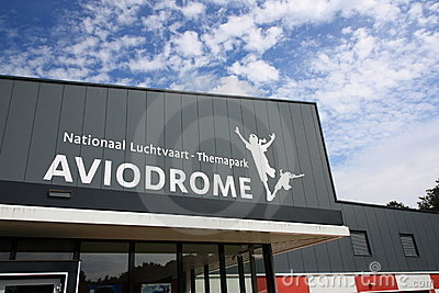 Front of Aviodrome aviation museum Editorial Stock Image