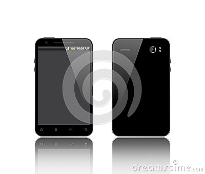 Front and back side of the phone