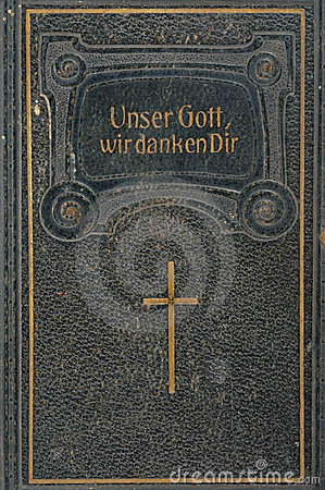 Front cover of leather-bound German song-book