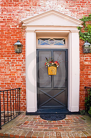 Front Door of Brick House - 3