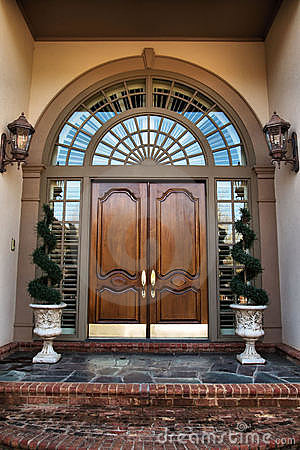 Front door entrance to home