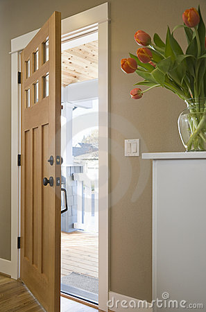 Free Front Door Of A Domestic Residence Royalty Free Stock Image - 14471966