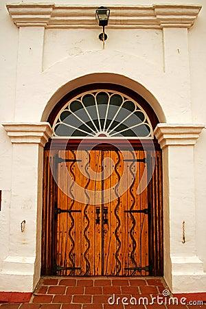 Free Front Door Of Mission San Luis Rey Stock Image - 97648101