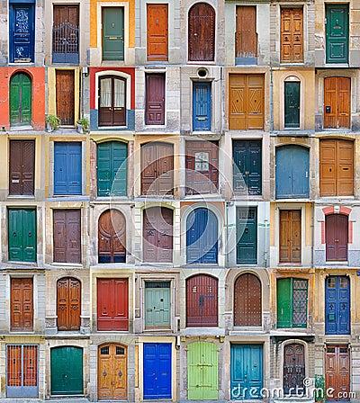 Free Front Doors, Barcelona, Spain - Vol 2 Stock Images - 17286094