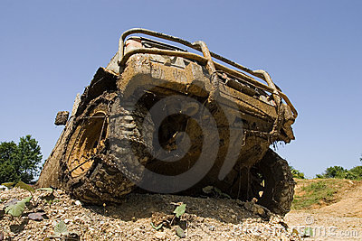 Front end of  all-terrain vehicle