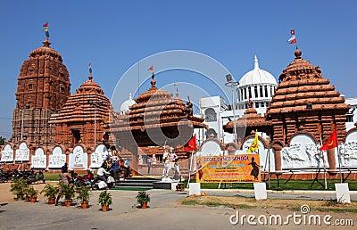 Front entrance Puri Jagannath Temple, Hyderabad Editorial Photo