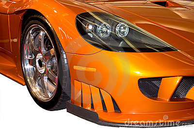 Front Fender of a Stylish Saleen Sports Car
