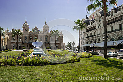 Casino and Hotel de Paris in Monte Carlo Editorial Stock Image