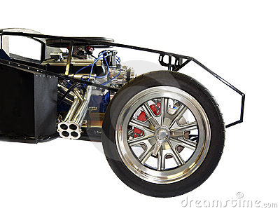 The Front of a Kit Car, Engine, Wheels and Frame