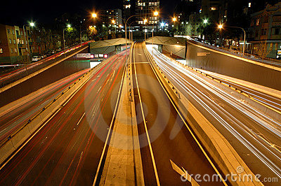 Front Light Trails Stock Photos - Image: 1786703