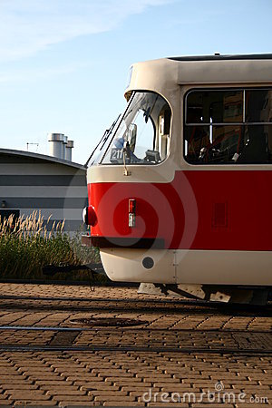 Free Front Of The Tram Stock Image - 8048941