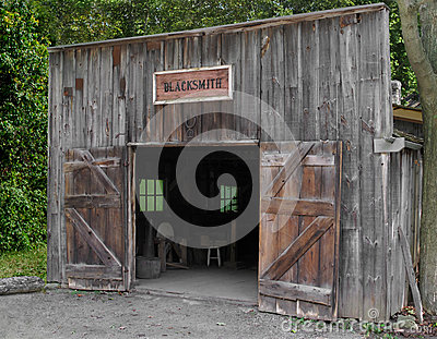 Front of an old blacksmith shop