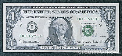Front of a one dollar bill Editorial Image