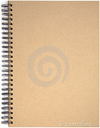 Front page of spiral bound note pad