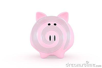 Front of a piggybank