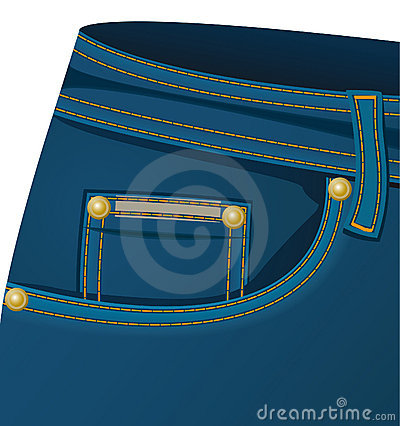 Front pocket of a jeans