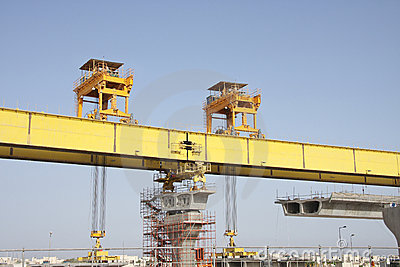 Front and Rear gantry legs of Launching Girder