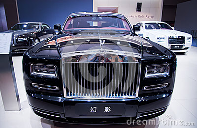 Front of Rolls-Royce Phishom Editorial Photography